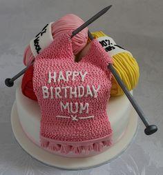 Knitting birthday cake!! :-)