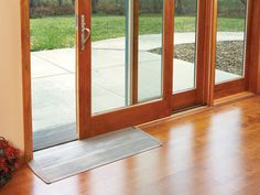 Universal Design Option: Aluminum sill ramp kits for Ultra and Heritage Series wood Garden-Aire sliding patio doors allow a smooth transition into the great outdoors and back.
