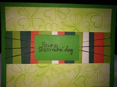 DIY St. Patrick's Day Card    http://www.outnumbered3-1.com/2012/03/craftastic-st-patricks-day-card.html