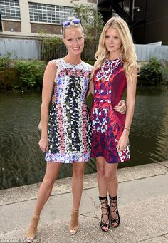 Print perfection: The Face coach Caroline Winberg and Rebecca Corbin-Murray also attended ...