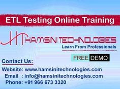 Hello Guys, Confused where to join ? Now time to stop searching and you can join directly at Hamsini Technologies. We are providing Online, Classroom & Corporate Trainings with live Projects by real time experts in Hyderabad, India. We provide Quality Trainings for all courses by who is having professional experience & hands on real time experts.   Hamsini Technologies is one of the leading IT Online Trainings Institute in Hyderabad, India.