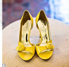 yellow guess shoes
