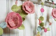 Image result for flower felt garland