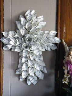 Paper crafts for easter from old books - Google Search