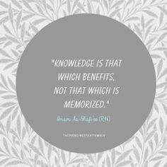 Knowlege that benefits