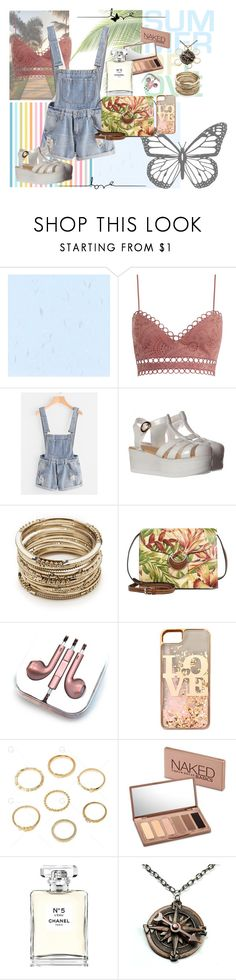 """""""Walk on the Pier"""" by musie-della ❤ liked on Polyvore featuring Zimmermann, Sole Society, Patricia Nash, PhunkeeTree, claire's, Urban Decay, Chanel, Pointer, Summer and floral"""