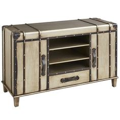 This would be a perfect replacement for my mish mash of tables & trunks we're currently using Bristol TV Stand #pier1