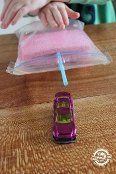 demonstrate air pressure to kids using items from the house - great way to add science to show and tell!