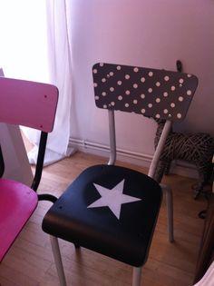 Rénovation et décoration de chaises d'écolier - By L'Effet Charlotte