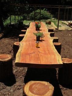 15 DIY Log Ideas For Your Garden Patio & Outdoor Furniture Patio & outdoor furniture new