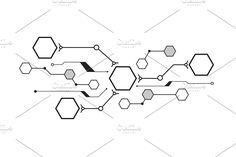 christmas tree | Pre-Designed Illustrator Graphics ~ Creative Market Vector File, Vector Graphics, Vector Vector, Hexagon Tattoo, Drug Tattoos, Sketch Style Tattoos, Systems Art, Wallpaper Downloads, Shape Design