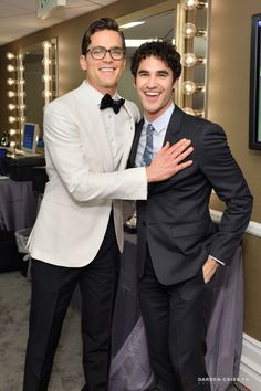 Actors Darren Criss and Matt Bomer attend the 19th CDGA presented by LACOSTE at The Beverly Hilton Hotel on February 21, 2017