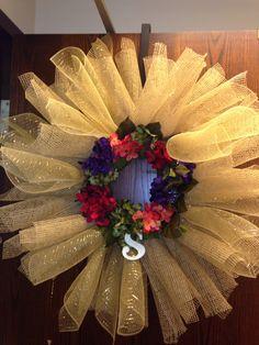 "Sunburst ""S"" Wreath for a large door"
