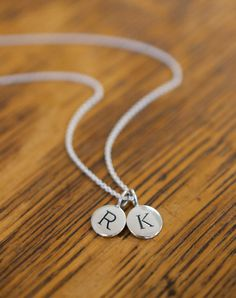 Sterling Silver Initial Pendant | Wallin & Buerkle