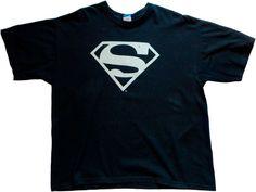 Superman shirt t-shirt DC Comics size XL 100% cotton Classic Logo black #Superman #PersonalizedTee