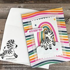 Stampin Up Paper Pumpkin, Rainbow Card, Simply Stamps, Colorful Fish, Tropical Fish, Animal Cards, Kids Cards, Baby Cards, Zebras