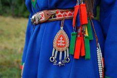 Sami Lappland Traditional Amulet and embelishments on belt