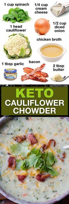 Low Carb Soup Recipes, Ketogenic Recipes, Diet Recipes, Cooking Recipes, Healthy Recipes, Dessert Recipes, Lunch Recipes, Breakfast Recipes, Simple Recipes