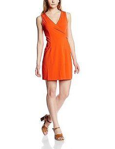 UK 14, Orange - Orange (Orange Red), Molly Bracken Women's R684e16 Sleeveless Dr