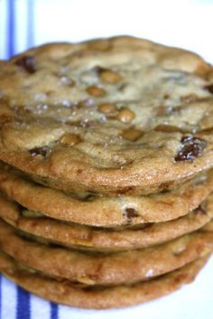 Salted Toffee Chocolate Chunk Cookies