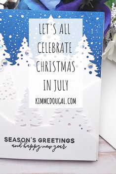 I must admit before I started making handmade cards I didn't celebrate Christmas in July. It's my favorite holiday so why not get in the mood early?! This year I brought back some goodies and I'll be adding new ones too throughout this whole month! Read the full post !