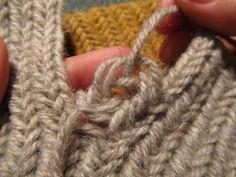 Hibernaatiopesäke: Alte Jahres-Auflösung: Nadel Socke Muster. Wie versprochen: wie man eine Socke nalbinded.