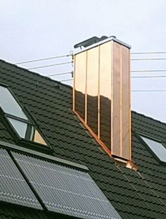 Shiny new copper chimney http://copperexclusive.com/portfolio-2/european-projects/