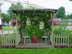 Arbor. I want one!!  But want it with a chaise lounge instead.  Think I see a honey-do project in my husband's future.   ; )