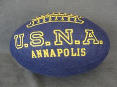 Vintage 1940's Felt Stuffed Football Navy Annapolis Naval Academy
