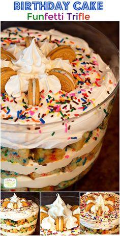 Birthday Cake Funfetti Trifle