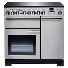 The Rangemaster Professional Deluxe Cream Dual Fuel Range Cooker is a contemporary design that takes the best out of the professional range and adds the deluxe element. The new rapid response function harnesses extra heat to warm up the oven Electric Range Cookers, Dual Fuel Range Cookers, Electric Oven, Domestic Appliances, Home Appliances, Dual Fuel Cooker, Induction Range Cooker, Oven And Hob