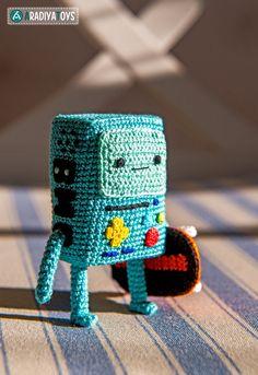 Crochet Pattern of BMO from Adventure Time Amigurumi por Aradiya