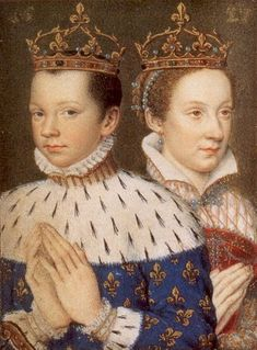 Mary, Queen of Scots, with her husband, King Francis II of France. Mary and Francis grew up together and were devoted to each other.