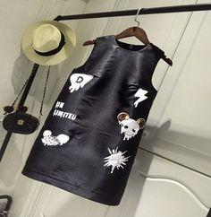 New summer dress casual Crewneck all-match sleeveless dress for women