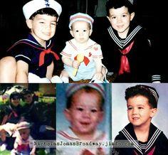 Baby Sailors - Jonas Brothers edition! baby Nick Jonas, toddler Joe Jonas and little Kevin Jonas rocking the nautical look - apparently with a whole photoshoot involved!