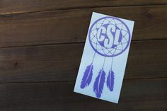 personalized monogram dreamcatcher yeti ozark rtic tumbler car decal by xoSouthernCharm