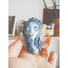 Emily. Corpse Bride   #polymerclay  #polymer #clay #fimo #sculpt #character #emily #corpsebride #timburton #pendant Corpse Bride, Tim Burton, Sculpting, Polymer Clay, Lion Sculpture, Princess Zelda, Statue, Pendant, Fictional Characters