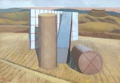 Paul Nash. Equivalents for the Megaliths. 1935. Paul and his brother John ( http://pinterest.com/pin/158118636887405402/ ) were both members of The Artists Rifles during WWI - http://en.wikipedia.org/wiki/Paul_Nash_%28artist%29