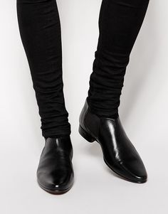 $35, Asos Brand Chelsea Boots In Leather. Sold by Asos. Click for more info: https://lookastic.com/men/shop_items/289002/redirect