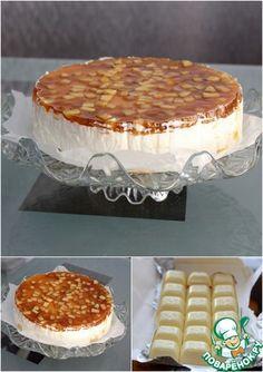 Сырный торт с белым шоколадом и карамелизированными яблоками