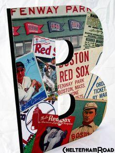 Vintage Boston Red Sox Collage B