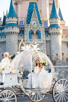 Cinderella's pumpkin shaped coach is just one of several luxe options for transportation at a Disney World wedding. For more tips on Disney World weddings, check out this post. weddings 10 Reasons You Should Have a Disney World Wedding Disney Inspired Wedding, Cinderella Wedding, Fairytale Weddings, Romantic Weddings, Disney Weddings, Unique Weddings, Wedding Disney, Royal Weddings, Tangled Wedding