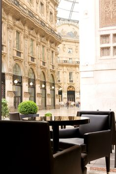 The Park #Bar with Galleria view, Park Hyatt Milan, Italy