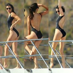 swimwear kendall jenner black swimwear one piece swimsuit