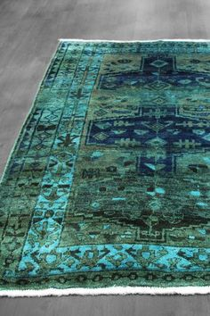 Over-Dyed Northwest Persian Geometric Wool Rug