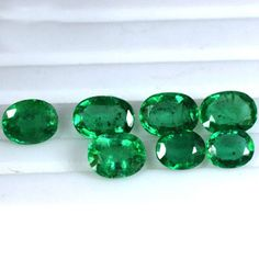 3.60 Cts Natural Top Green Emerald Loose Gemstone Unheated Oval Cut Lot Zambia $