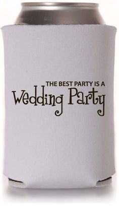 Bridal Party Can Coolers Wedding Can Coolers #weddingparty #wedding #koozies  $0.99 each available with any $40 purchase!