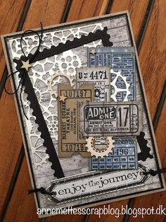 Anne-Mette´s scrapblog: Maskuline kort med billetter