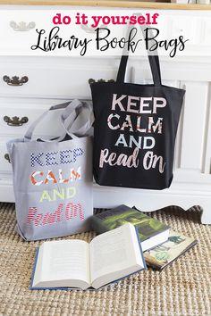 DIY Library Book Bag