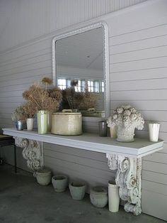 corbels and shelf